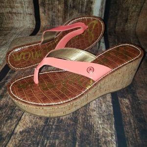 Sam Edelman Cork Flip Flop Sandals
